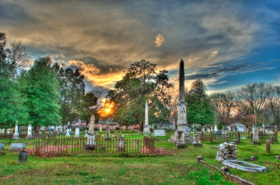 Hillcrest Cemetery at Sunset