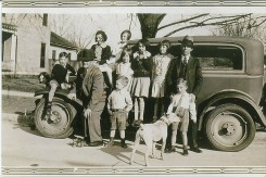 Dr. Wynne and family outside Wynne House