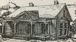Depiction of Old Presbyterian Manse (1855)