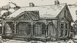 Depiction of Old Presbyterian Manse (1855)