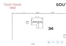 1892 Sanborn Map (showing original antebellum house)